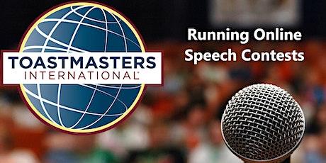 Running Toastmasters Online Speech Contests tickets