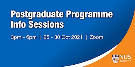 National University of Singapore : Postgraduate Programme Info Session tickets