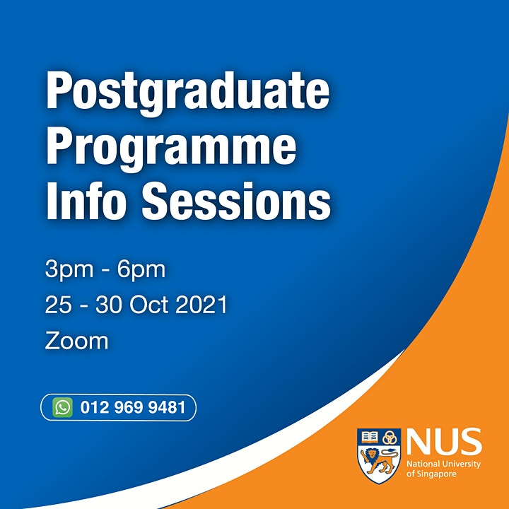 National University of Singapore : Webinar & Programme Info Session image