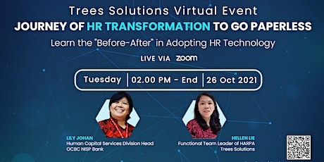 HR Virtual Event: Journey of HR Transformation to Go Paperless [ONLINE] tickets