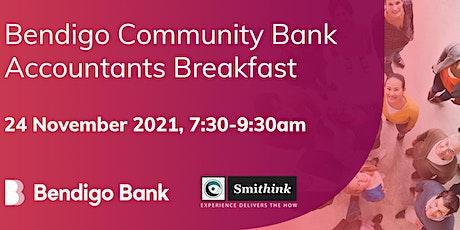 Bendigo Community Bank Accountants Breakfast tickets