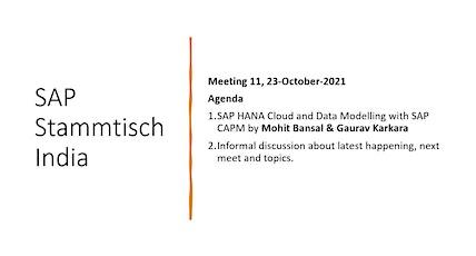SAP Stammtisch India - Meeting 11 Tickets