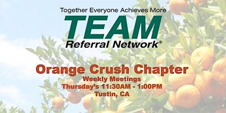 TEAM Orange Crush Weekly In-Person Meeting tickets