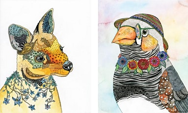 Pen and Watercolour - Australian Flora and Fauna with Zinia King tickets