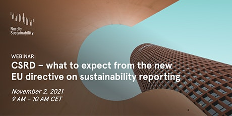 CSRD – what to expect from the new EU directive on sustainability reporting tickets
