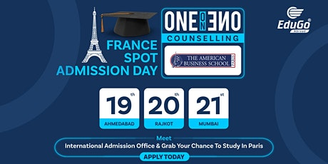 France Spot Admission Day - One-On-One Counselling | ABS, Paris tickets