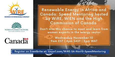 Renewable Energy in Africa and Canada: Speed Mentoring tickets