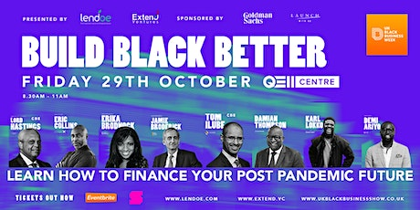 Build Black Better: How to finance a better post pandemic future tickets