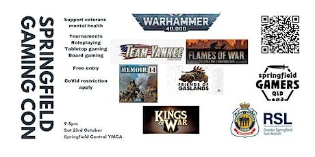 Springfield Gaming Con: Veterans Mental Health Gaming Day tickets