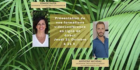 Présentation en ligne de l'institut français de naturopathie IFNAT billets