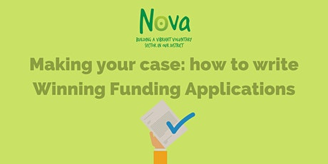 Making your case: how to write winning funding applications tickets