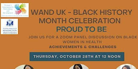 WAND UK - BLACK HISTORY MONTH CELEBRATION  - PROUD TO BE - tickets