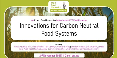 Innovations for carbon neutral food systems: what opportunities lie ahead? tickets