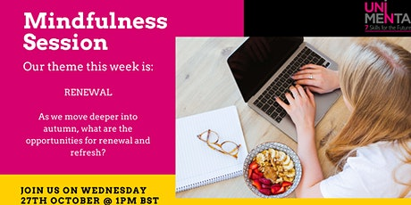 FREE Lunchtime Mindfulness Session tickets