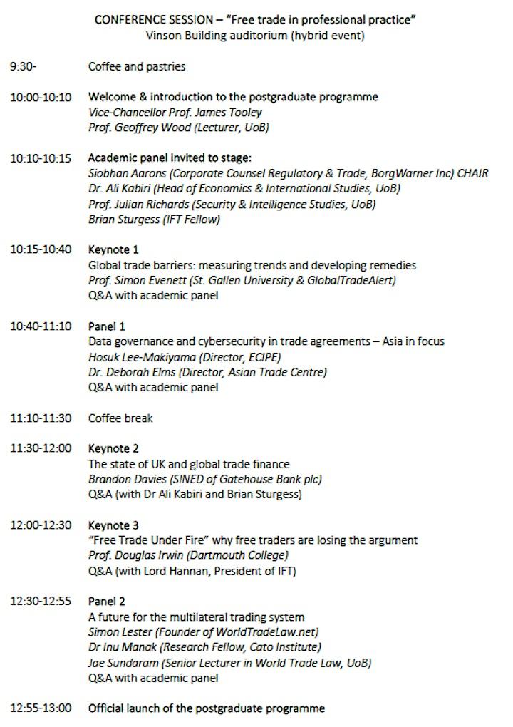 New postgraduate programme: Professional Studies in International Trade image