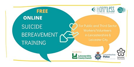 ONLINE  Suicide Bereavement training for Leicester & Leicestershire tickets