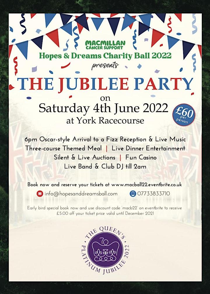 "Sixth Annual Macmillan Cancer ""Hopes & Dreams"" Ball at York Racecourse 2022 image"