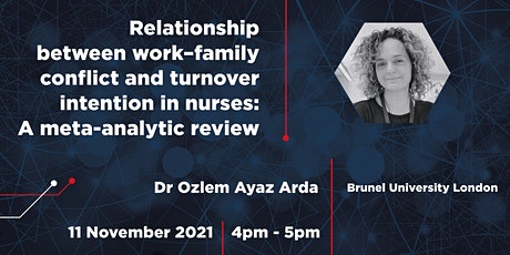 Relationship between work–family conflict and turnover intention in nurses tickets