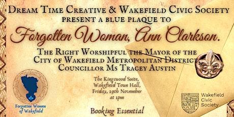 Ann Clarkson's Blue Plaque Unveiling tickets