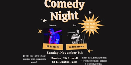 Comedy Night At Bowies tickets
