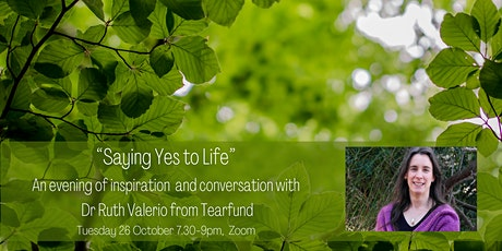 """""""Saying Yes to Life"""" – an evening of conversation with Dr Ruth Valerio tickets"""