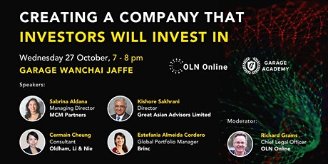 Creating a Company that Investors will Invest In (OLN Online Series #2) tickets