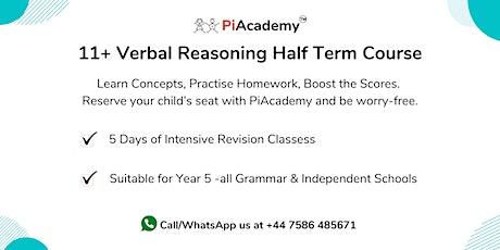 11+ Verbal Reasoning Half Term Course tickets