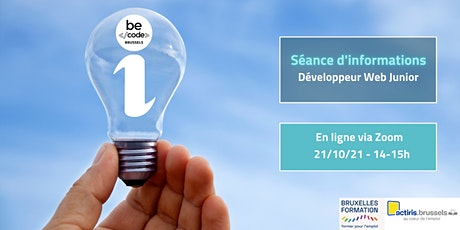 BeCode Brussels - Séance Info - Développeur Web Junior billets