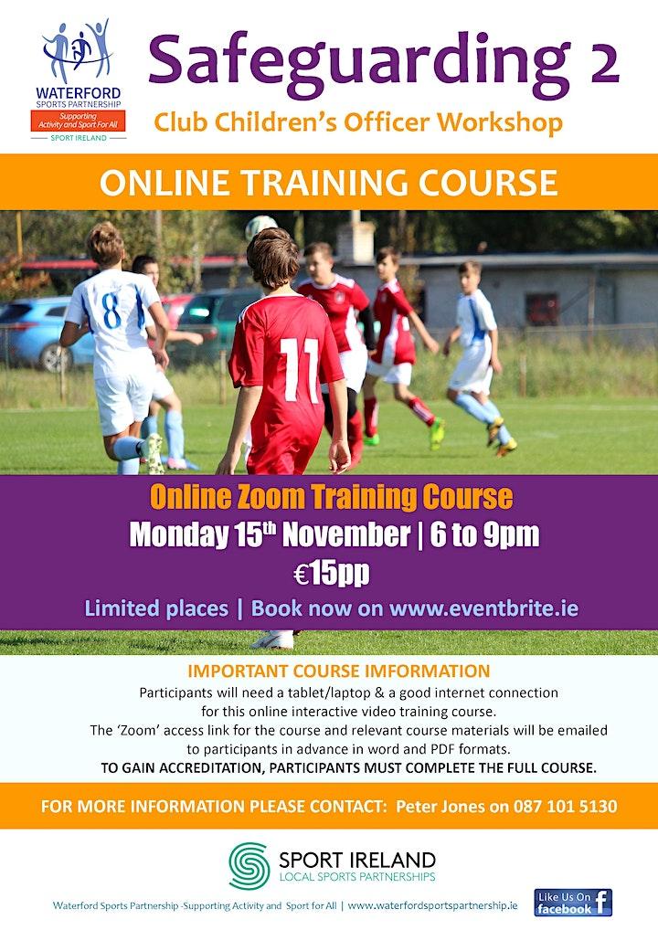 Safe Guarding 2 - Club Children's Officer Workshop  - 15 November 2021 image