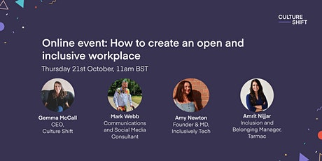 How to create an open and inclusive workplace tickets