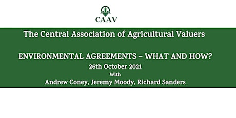 CAAV Webinar 2021 - Environmental Agreements - What and How? tickets