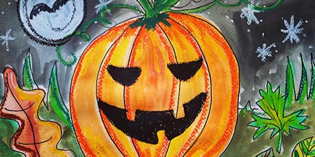 Halloween Painting with White Doodle Workshops: Ages 6-8 tickets