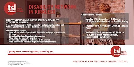 Disability Network in Kirklees - Online tickets