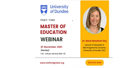 University of Dundee Master of Education (M.Ed) Webinar for UAE tickets