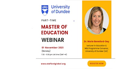 University of Dundee Master of Education (M.Ed) Webinar for Israel tickets