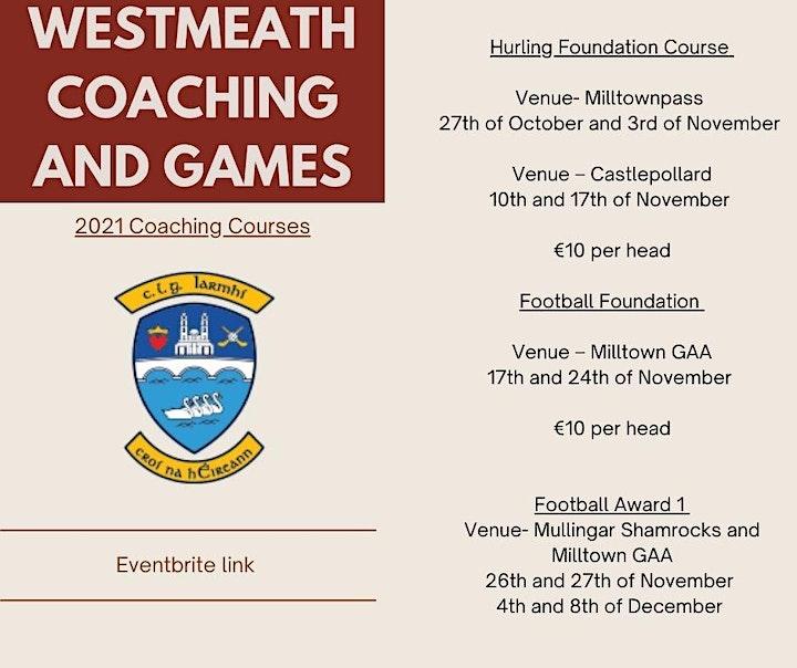 Westmeath Hurling Foundation level course- Castlepollard image