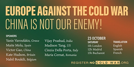 Europe against the cold war – China is not our enemy tickets