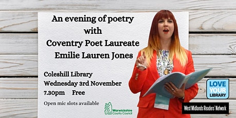 An evening of poetry at Coleshill Library tickets