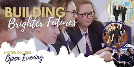 Baxter College Open Evening 2021 - Mop Up Session tickets