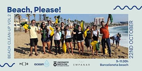 Beach, please! Beach clean-up in Barcelona entradas