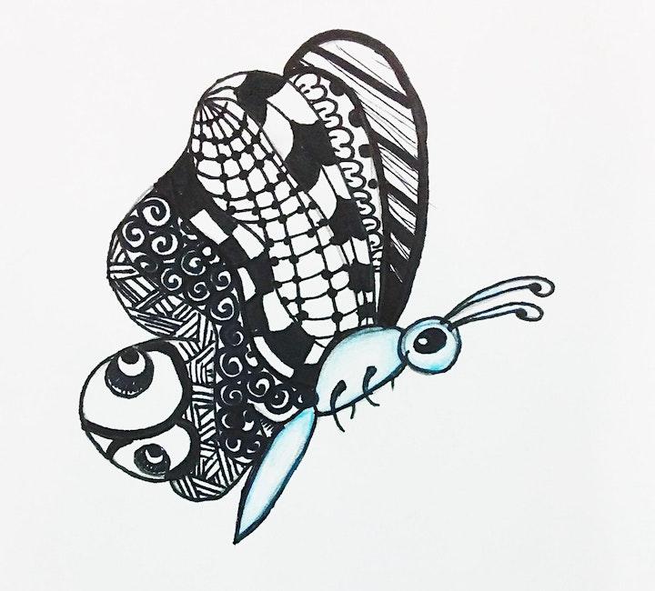 Zendoodle Art Workshop on Zoom image