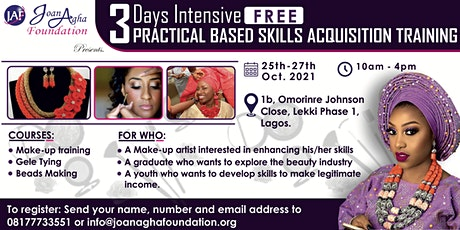 3 DAYS INTENSIVE PRACTICAL BASED SKILLS ACQUISITION TRAINING tickets