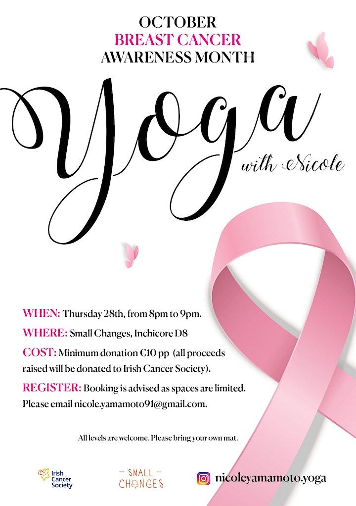 October Breast Cancer Awareness -  Fundraiser Yoga image