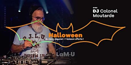Soirée Halloween avec DJ colonel Moutarde billets