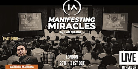 Manifesting Miracles LIVE October 2021 tickets
