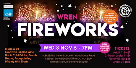 Wren Academy Fireworks Evening tickets