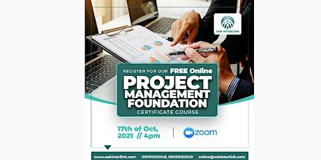 Project Management Foundation Webinar tickets