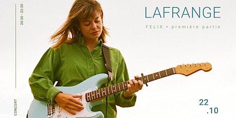 LaFrange en concert - Sad love songs billets