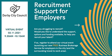 Recruitment Support for Employers tickets