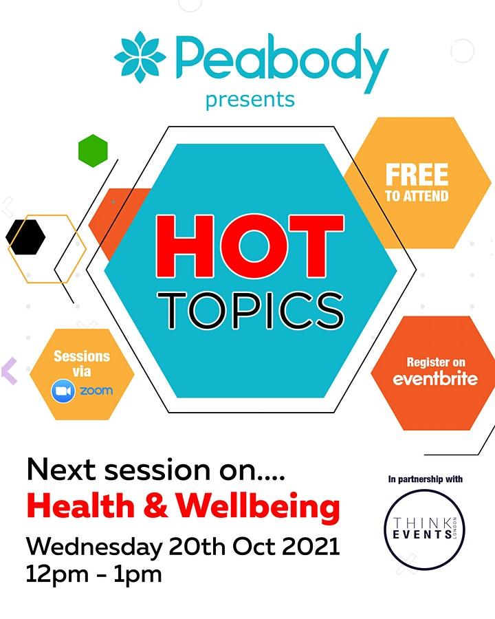Peabody's Hot Topics - Health and Wellbeing image